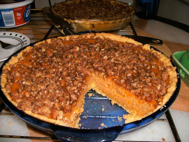 Sweet Potato/Streusel Pie With Cornmeal Pastry