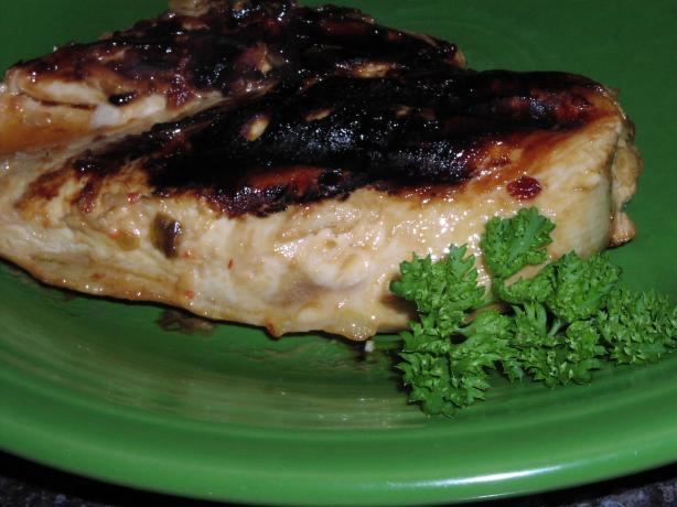 Spicy-Sweet Glazed Chicken Breasts