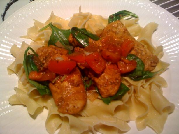 Balsamic Chicken With Spinach and Fresh Tomato