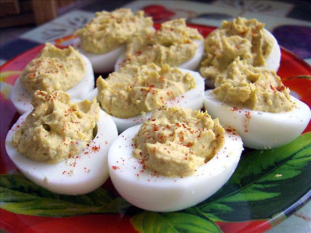 Curried Stuffed Eggs