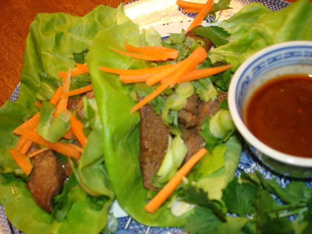 Beer-And-Sriracha-Marinated Beef Lettuce Cups