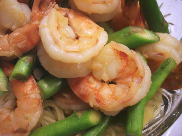 Chinese Stir Fried Shrimp With Asparagus