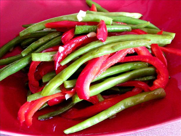 Stir Fried Green Beans and Peppers