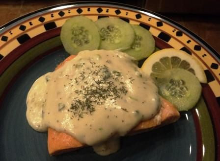 Simply Elegant Salmon in Champagne Sauce With Fresh Dill