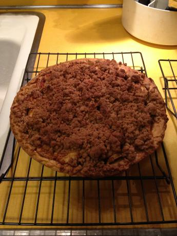 Streusel Crumb Topped Apple Pie