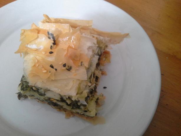 Athena's Spanakopita (Spinach and Feta Pie)