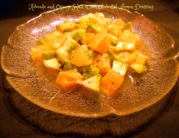 Avocado and Orange Salad With Olive Oil-Lemon Dressing
