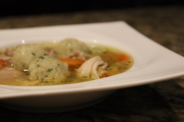 Martha's Chicken Soup With Parsley Dumplings