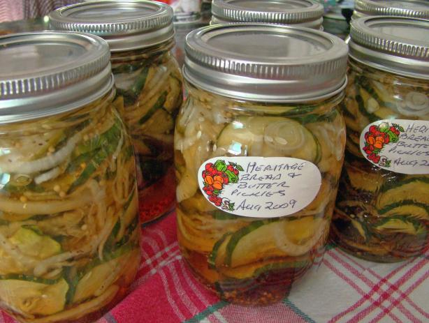 Heritage Bread and Butter Pickle - Pickled Cucumber and Onions