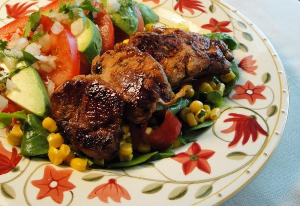 Healthified Marinated Pork With Summer Corn Salad