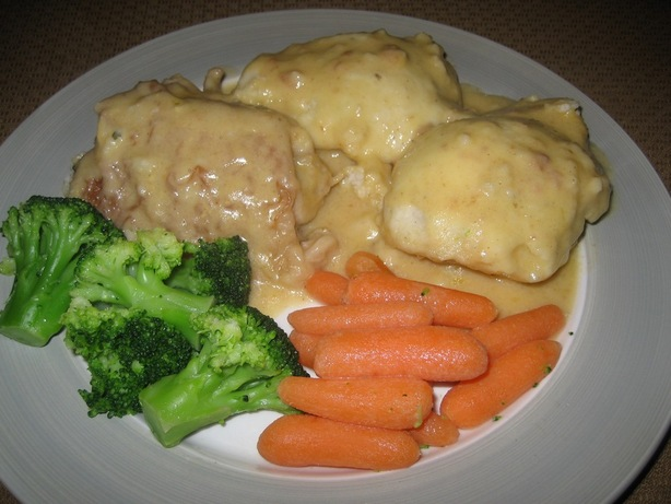Chicken Fricassee and Dumplings (Lighter Version)