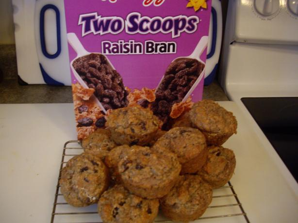 Raisin Bran Cereal Healthy Muffins