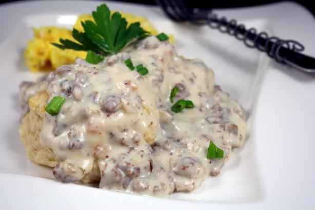 Cheese Biscuits & Sausage Gravy