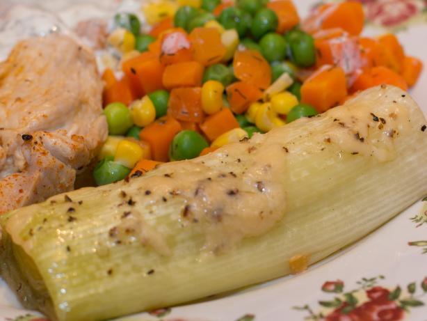 Leeks Braised With Parmesan Cheese