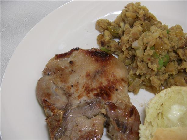Pork Chops With Pan Fried Stuffing