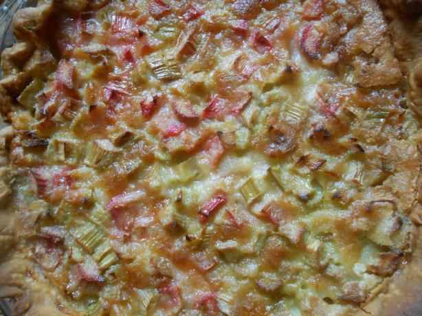 Granny's Rhubarb Custard Pie