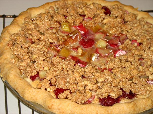 Rhubarb Raspberry Custard Pie