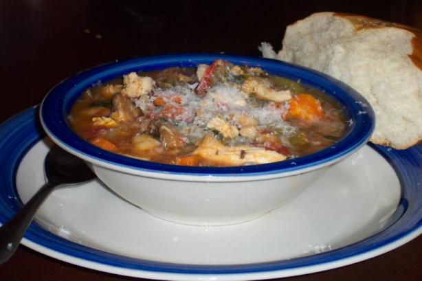 Chunky Chicken and White Bean Soup