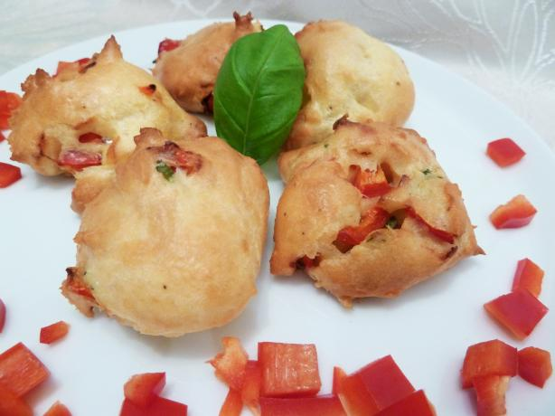 Red Pepper Asiago Gougere' Cheese Bites