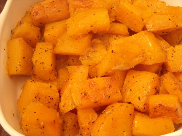 Savory Roasted Butternut Squash -- Cluck!