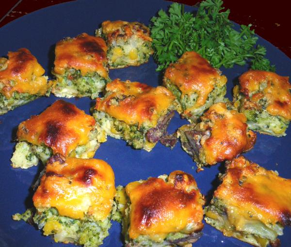 Cheddar Cheese and Broccoli Appetizers