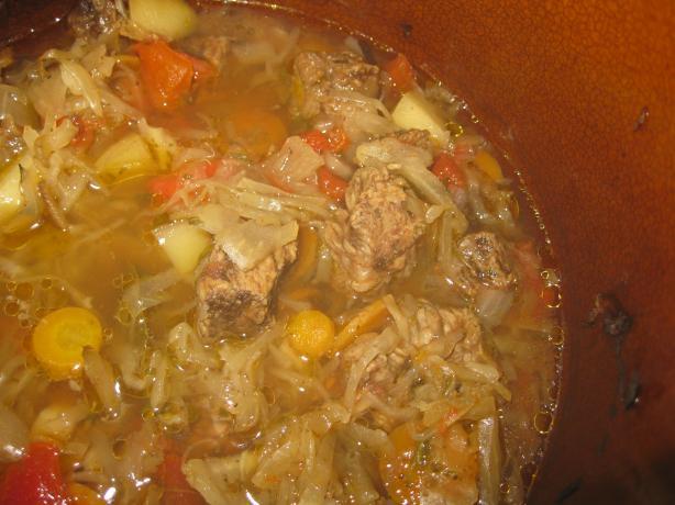 Slow Cooked Beef and Sauerkraut Stew