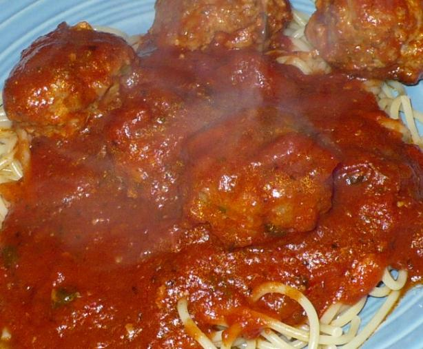 Penny's Spaghetti Sauce and Meatballs