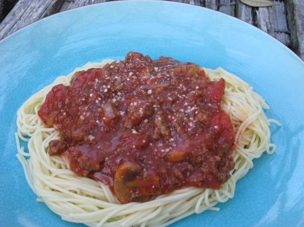 Mama's Spaghetti With Meat Sauce