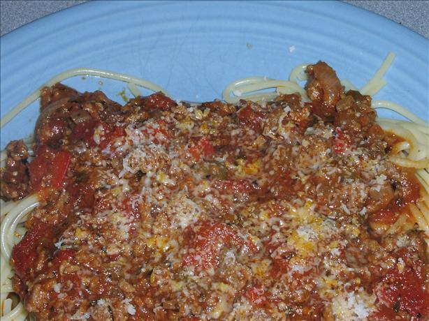 Quick and Easy Spaghetti with Meat Sauce