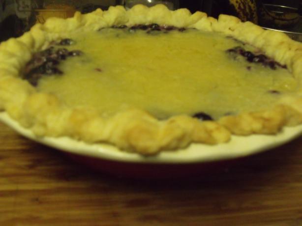 Blueberry Cobbler Pie