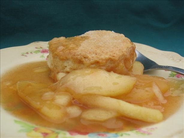Apple Cobbler With Sweet Biscuit Crust