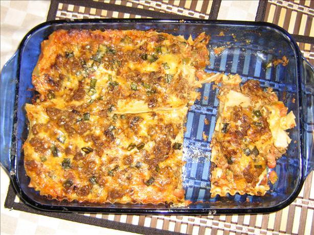 Mexican Noodle Lasagna
