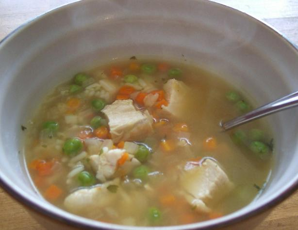 Chicken Lemon Soup W/Rice and Vegetables