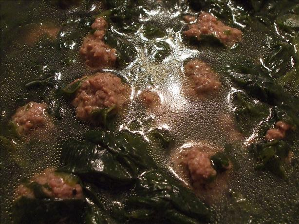 Comfort Soup (Spinach & Meatballs)