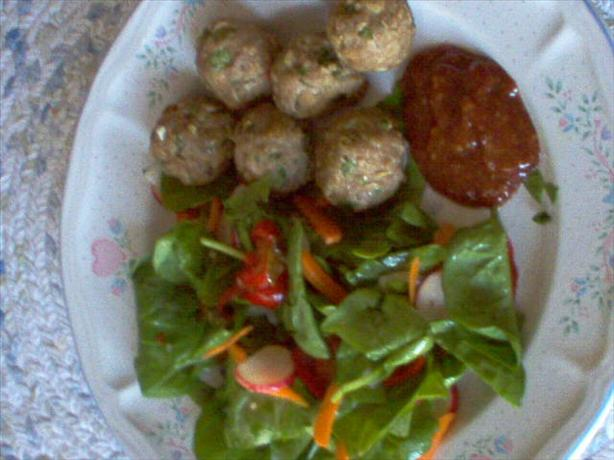 Healthier Turkey Meatballs W/Dipping Sauce
