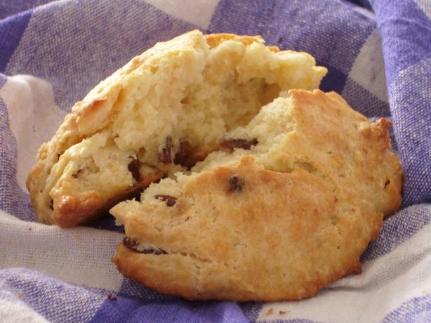 Easy Buttery Drop Raisin Scones