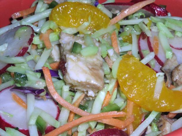 Chinese Chicken Coleslaw Salad