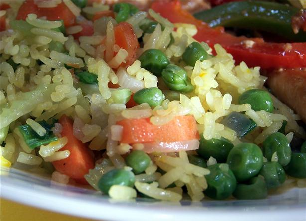 Denise's Saffron Vegetable Fried Rice