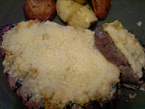 Prime Rib-Eye Steaks With Mustard Parmesan Crust