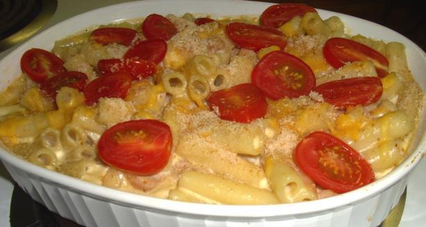 Mum's Homemade Macaroni Cheese With Bacon