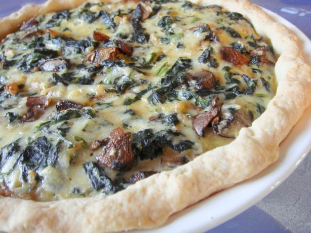 Spinach Mushroom Quiche