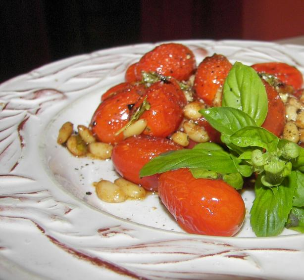 Sauteed Cherry Tomatoes With Pine Nuts