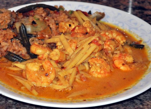 Shrimp and Bamboo Shoot Curry