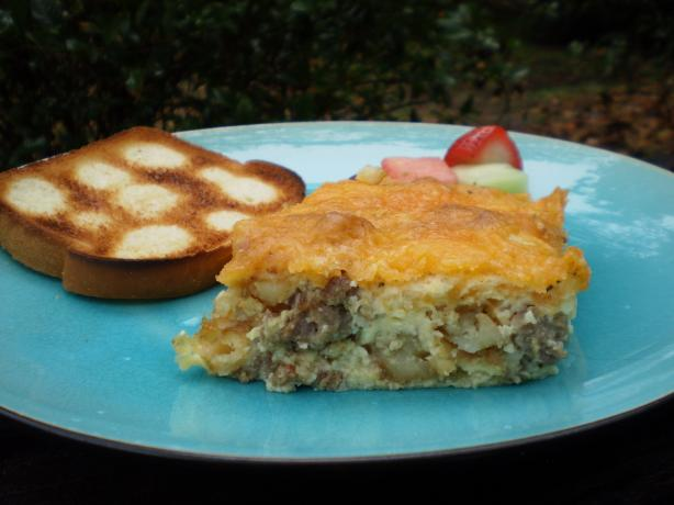 Breakfast Casserole Seasoned With Country Gravy