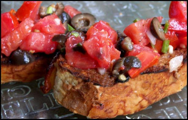 Tomato Bruschetta, Dijon-Style