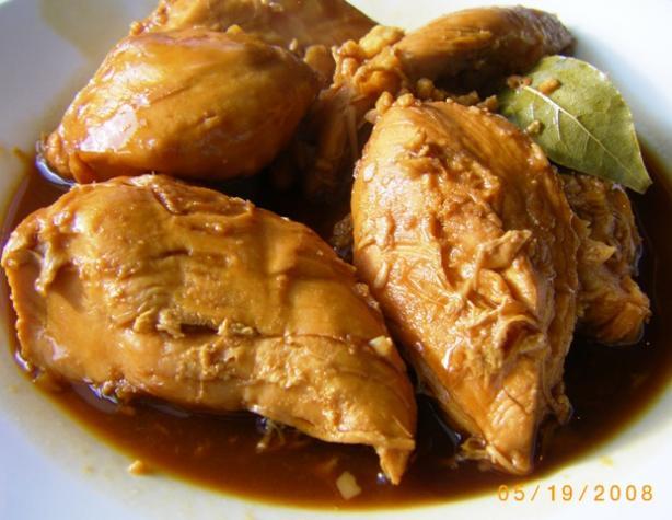 Chicken Adobo in Coconut Milk