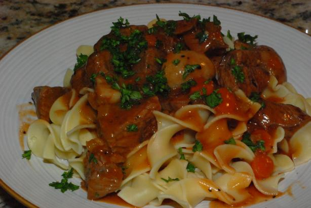 Beef in Red Wine Mushroom Sauce