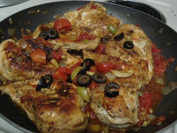 Chicken Breast With Tomato Olive Sauce