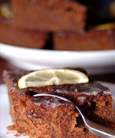 Fresh Gingerbread With Lemon Icing