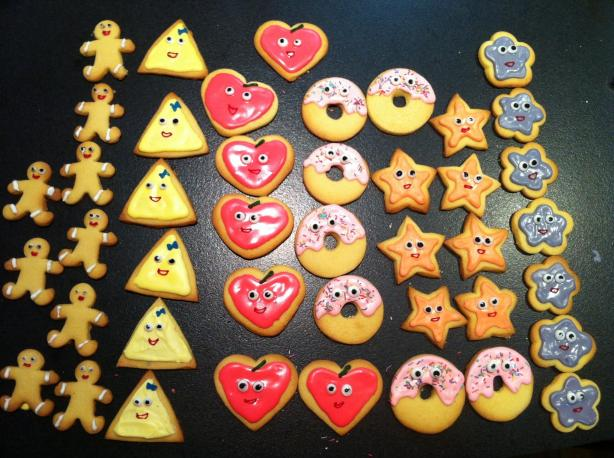 Shortbread Sugar Cookies With Icing